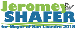 Logo for Jeromey Shafer for Mayor of San Leandro